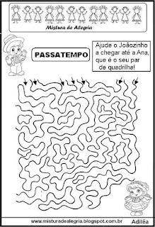 Festa junina atividade labirinto