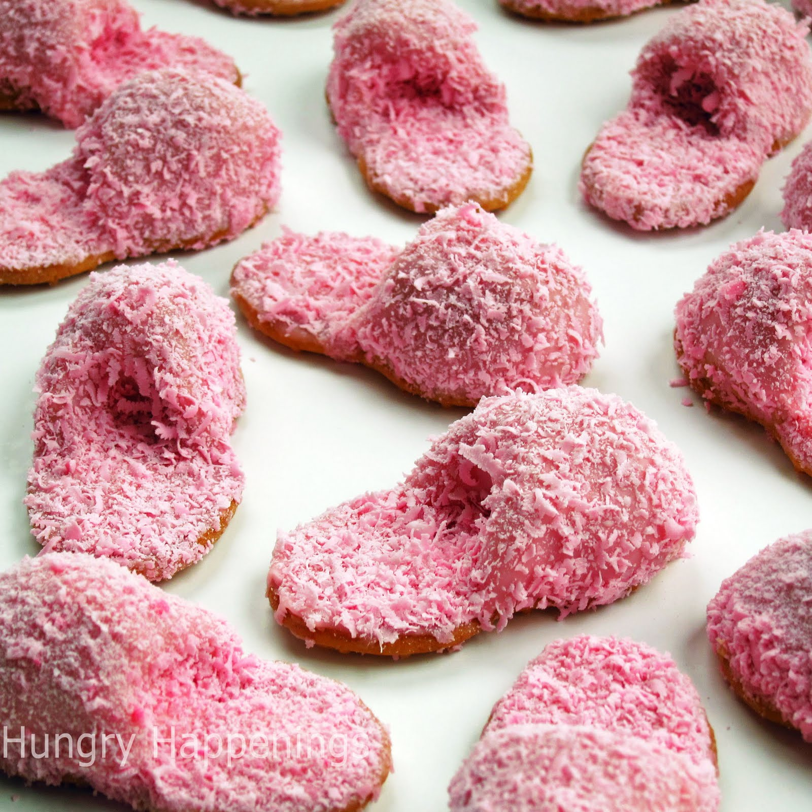 How To Make Pink Fuzzy Slipper Cookies