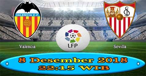 Prediksi Bola855 Valencia vs Sevilla 8 Desember 2018