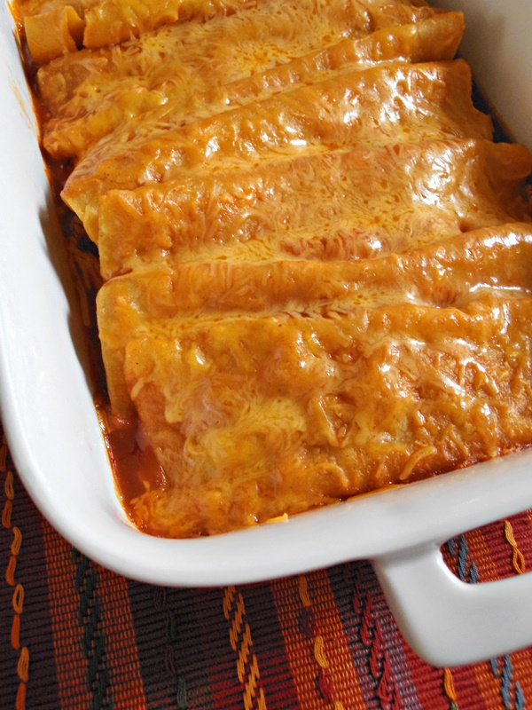 Super Simple Beef and Cheese Enchiladas