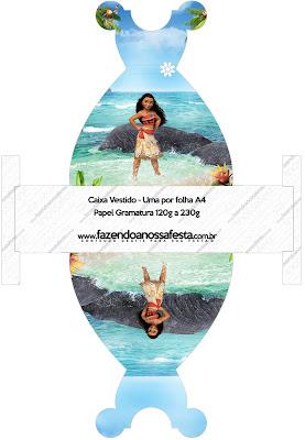 Moana Free Printable Dress Box.