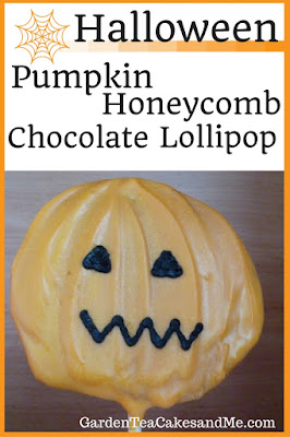 Halloween Pumpkin Chocolate Honeycomb lollipop