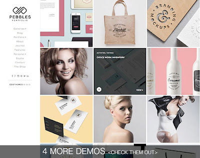 Pebbles Portfolio - Template Toko Online Shop Responsive Gratis