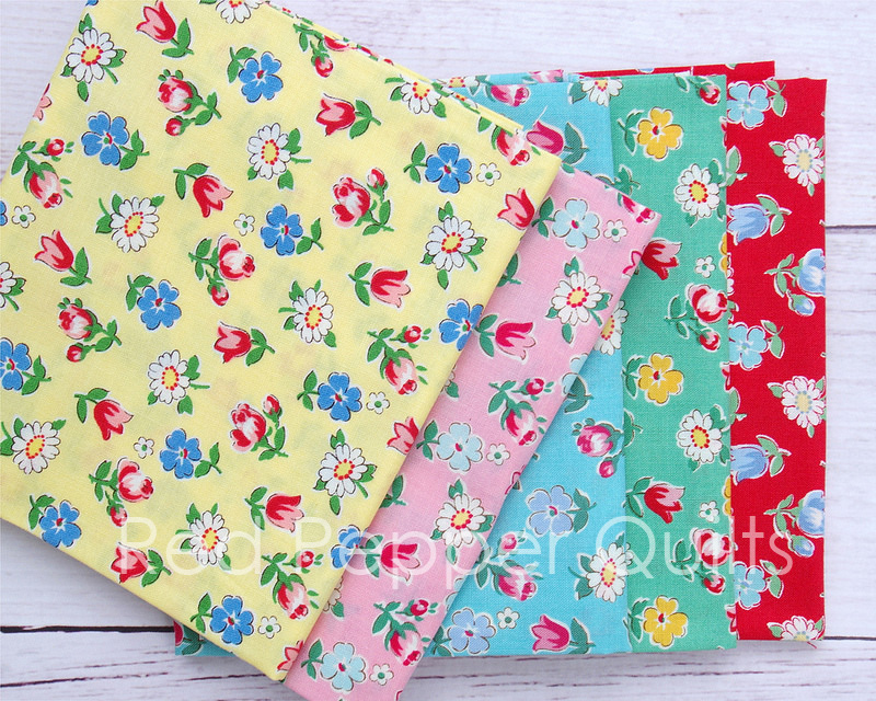 30's Collection by Atsuko Matsuyama - Smile Garden for Yuwa Fabrics