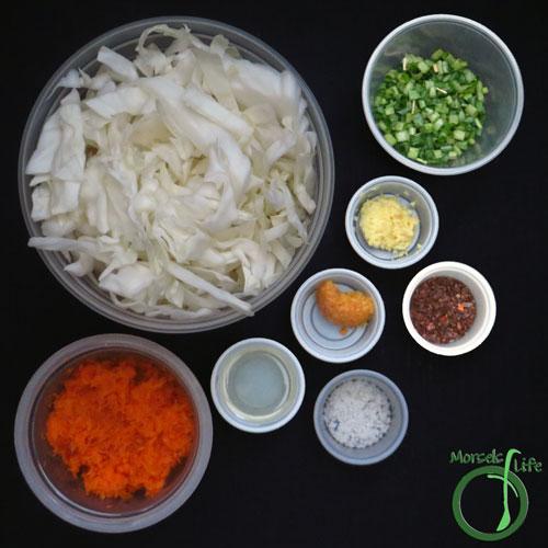 Morsels of Life - Korean Sauerkraut Step 1 - Gather all materials.