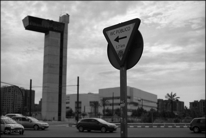 fotografía, señal, WC, público, Arriba Extraña, Valencia