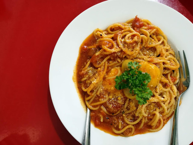 spagetti bolognese beef meatball