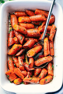 vegetarian easter dinner carrots