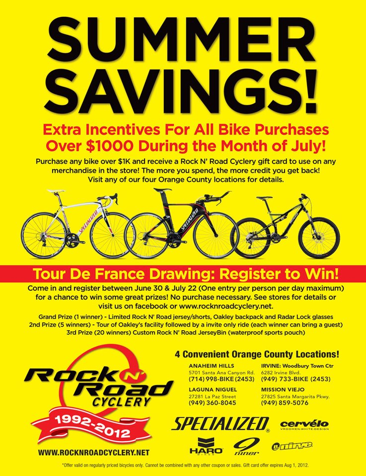 Southern California Time Trial Series Rock N Road Cyclery July Deals