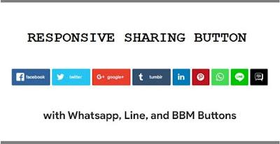 Ketika membaca sebuah artikel yang terdapat di sebuah blog atau website, terkadang terbesit keinginan untuk membagikan ke semua orang atau hanya sekedar untuk disimpan dan di baca nanti. Banyak cara yang dilakukan untuk hal tersebut. salah satunya dengan cara men-share ke berbagai media sosial yang di milikinya. Tentu hal ini sangat mudah bila di blog atau website tersebut di dukung dengan fitur tombol share button berbagai media sosial, sehingga kita dapat memililih mau di share kemana artikel tersebut. Pada kesempatan kali ini, SinauBlog.com akan berbagi cara membuat share button responsive media sosial lengkap di blog