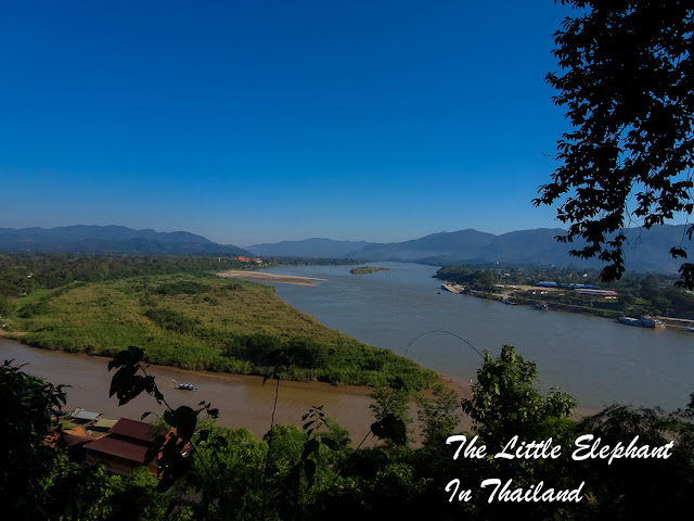 The mighty Mekong River at the Golden Triangle - North Thailand