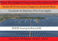 Power Development Corporation Recruitment 2017