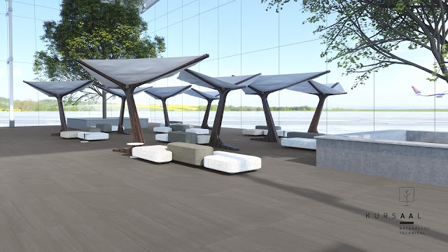 Outside floor tiles design Kursaal Neutral series for local - heavy commercial areas
