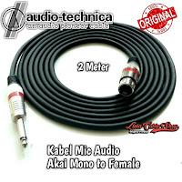 Kabel Mic XLR Audio Female To Jack Akai Mono Canon Canare 2 Meter
