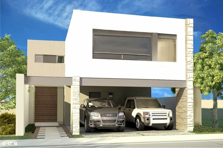 Fachadas de casas modernas diciembre 2013 for Fachadas de casas modernas de 6 metros