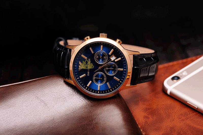đồng hồ nam dây da thời trang
