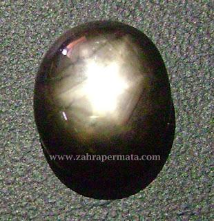 Batu Permata Black Saphire Star - ZP 429