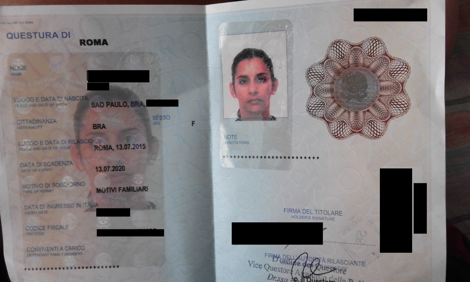 Permiso De Soggiorno Italy | Permesso Carta Di Soggiorno Per ...
