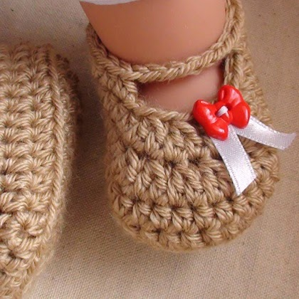 Posh Crochet Baby Booties Pattern
