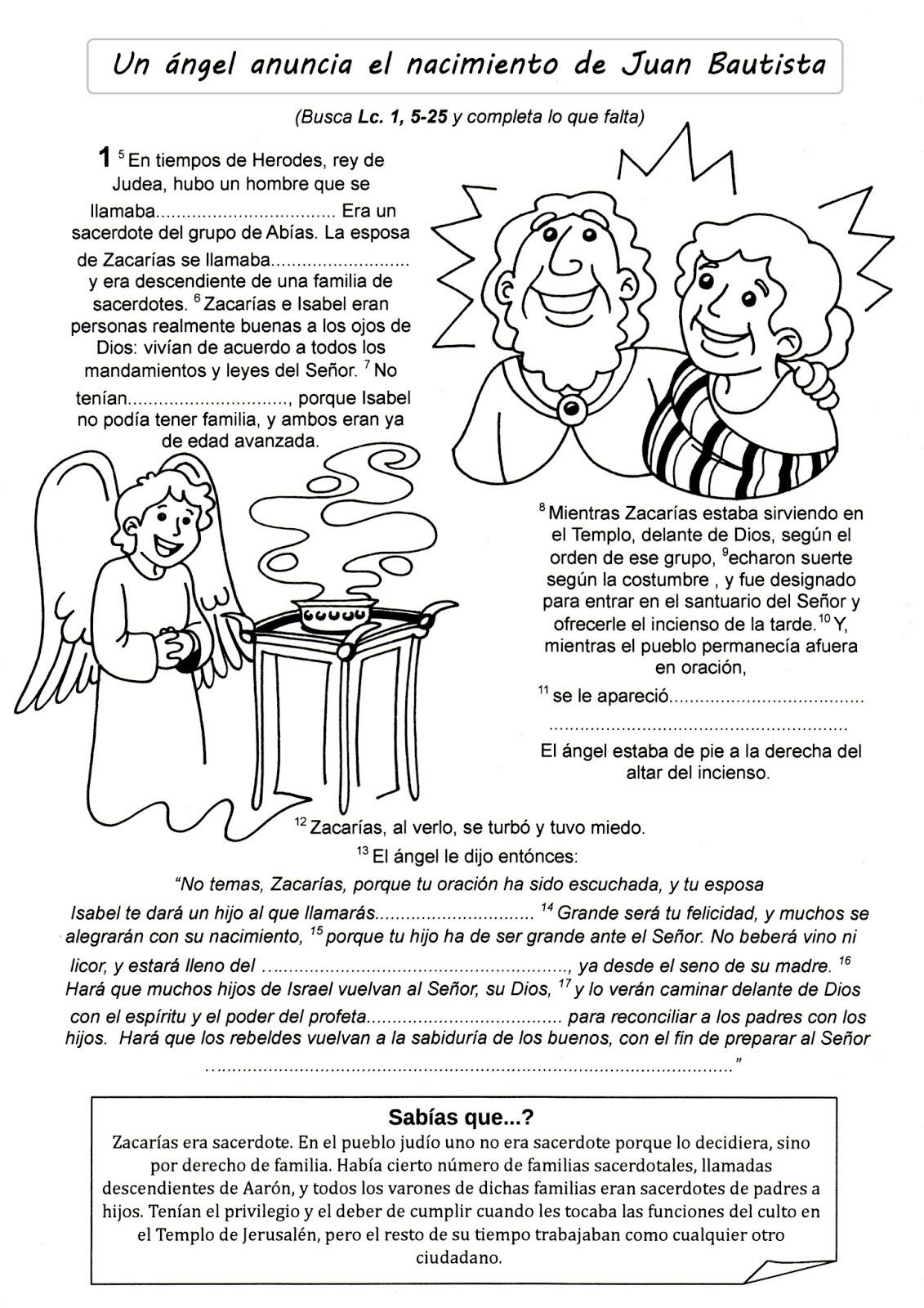 Biblia en puntadas: Juan Bautista y primeros pasos de Jesús