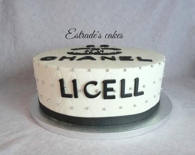 tarta de Chanel para un cumpleaños 5