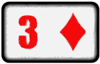 three of diamonds playing card