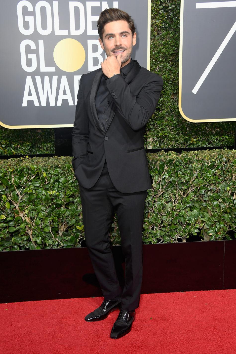 Golden Globes 2018, Red Carpet, Alfombra Roja, Tuxedos, Trajes, Ternos, Hombres, Looks, Outfits, Premiación, Masculinos, Estilismos, Vestir bien, Zac Efron