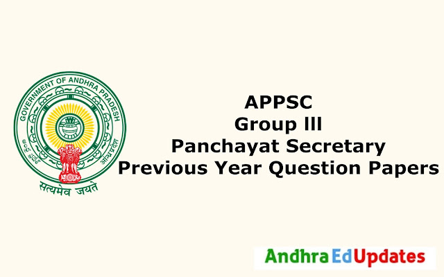 APPSC Group 3 Previous year question papers