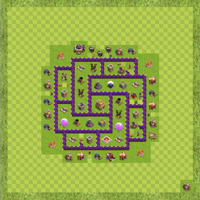 War Base Town Hall Level 7 By Phoenix1609007 (Bricks TH 7 Layout)