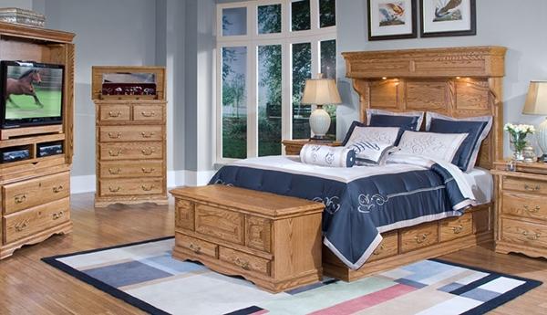 tempat tidur kayu alami tradisional