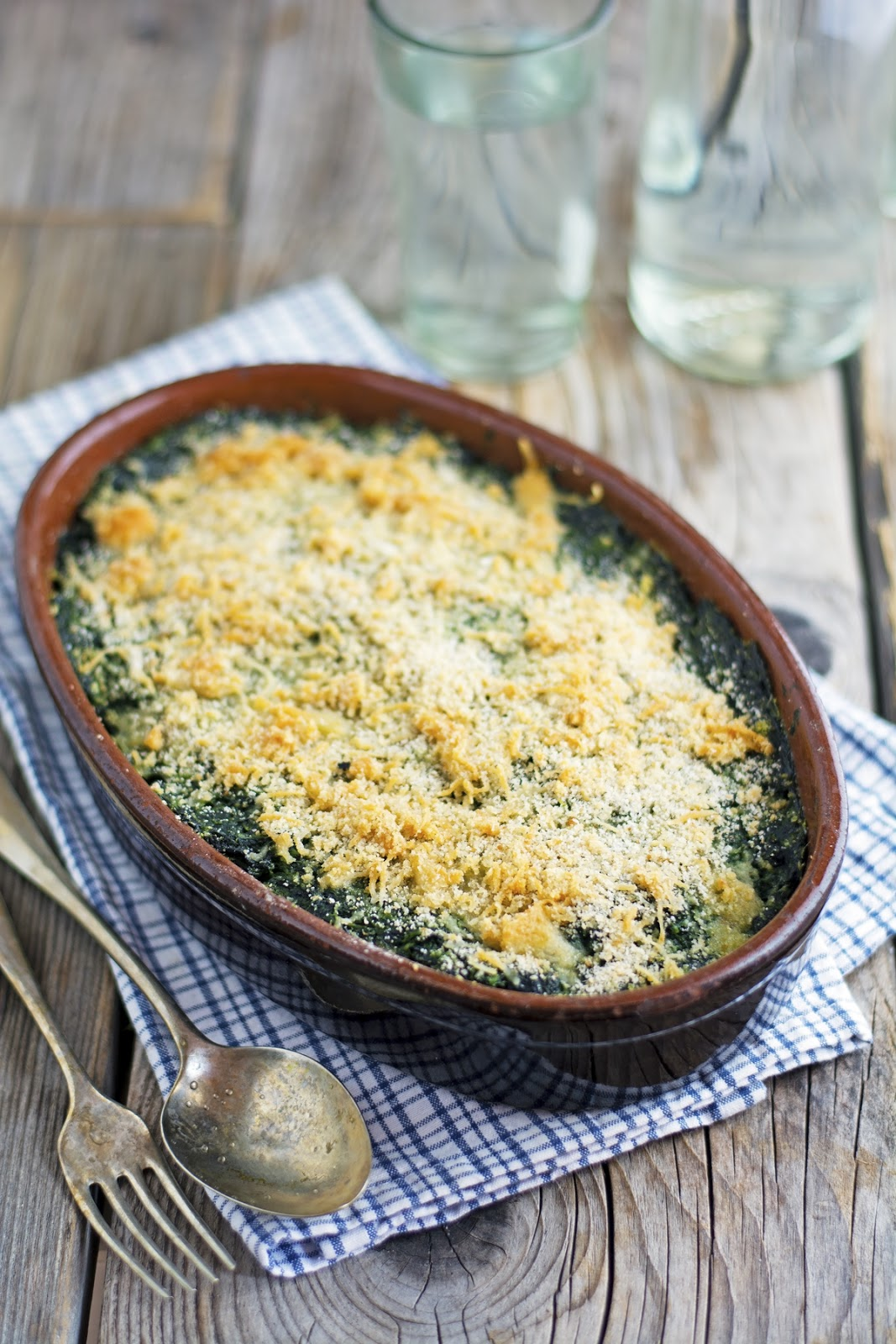 Mom's Gratineed Spinach