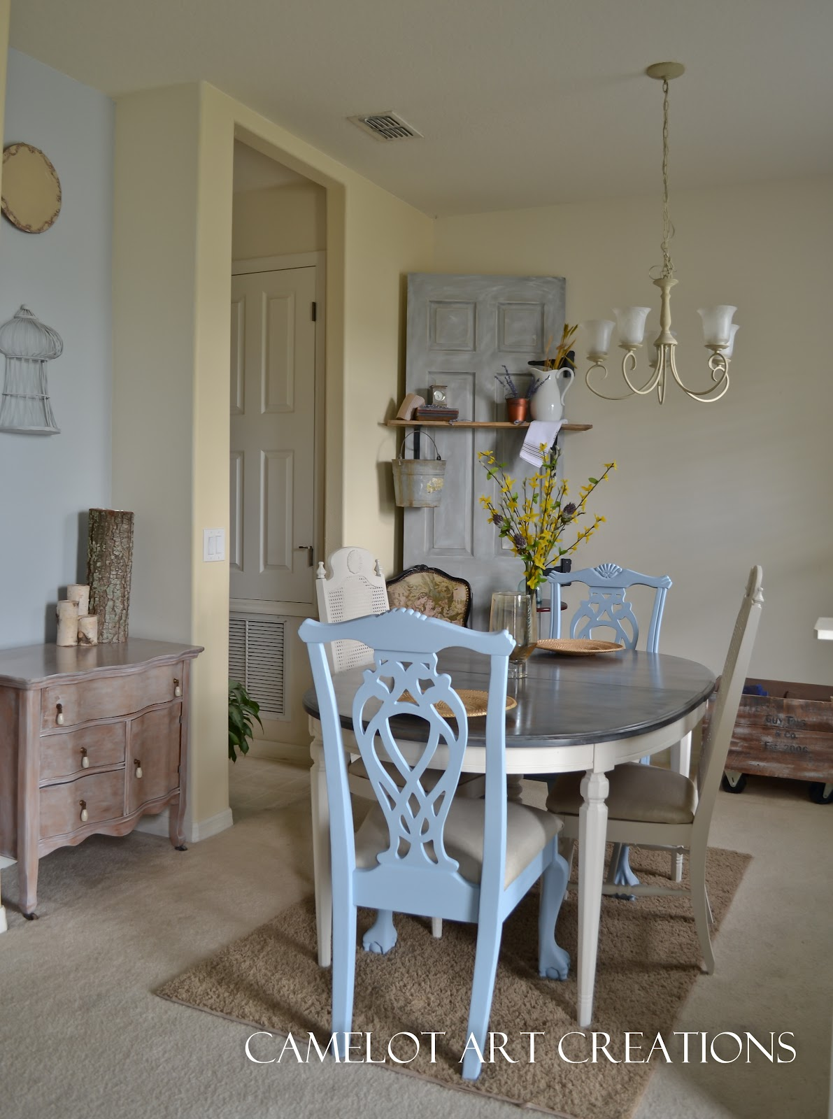 The Dining Room Is Back 4 Ways To Revive Your Fabulous: Camelot Art Creations: Refinished Dining Room Set