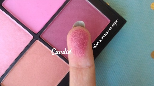 Paleta Unfiltered 2 de NARS - review & swatches - colorete Candid