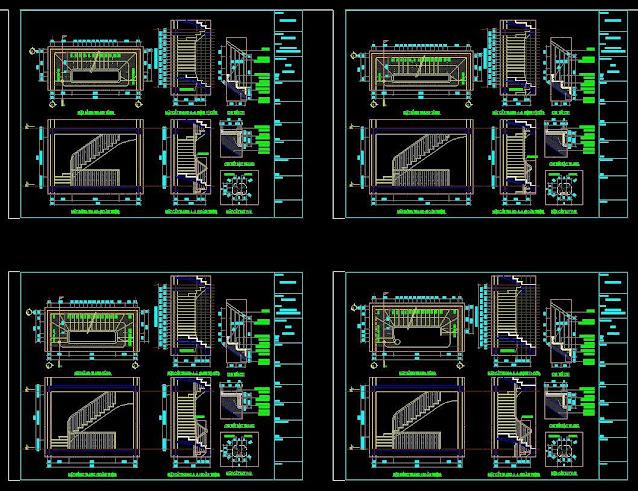 Bản vẻ khai triển cầu thang theo modul