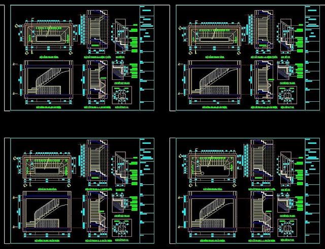 Chia sẽ các bản vẻ khai triển cầu thang theo modul
