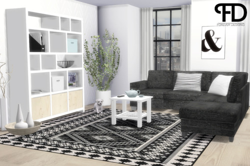 My Sims 4 Blog Esther Pallet Bed and Amura Living Room