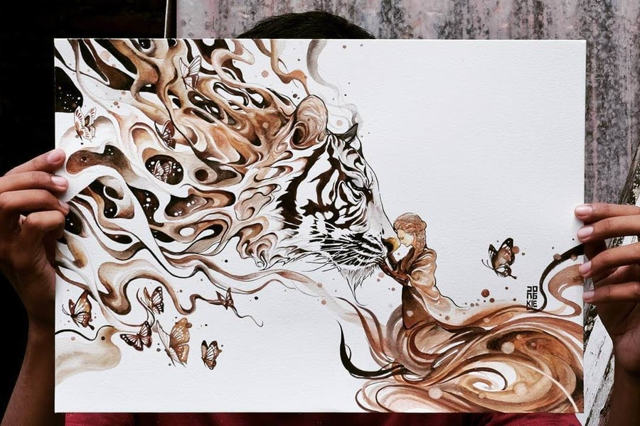09-Inspired-Beauty-and-the Beast-LR-Mulyono-Watercolor-Paintings-www-designstack-co