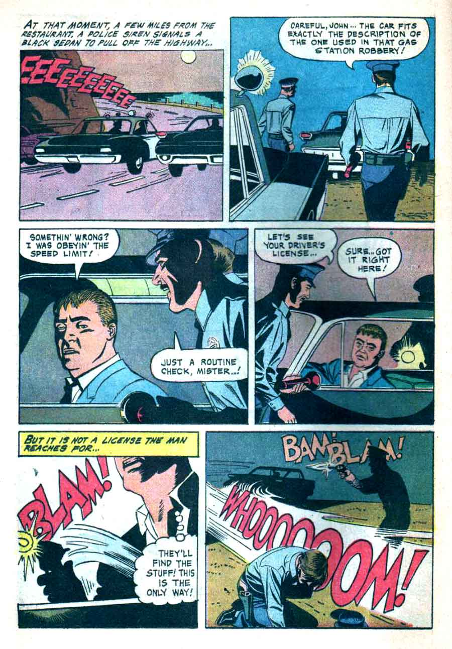 77 Sunset Strip / Four Color Comics #1211 dell tv 1960s silver age comic book page art by Russ Manning