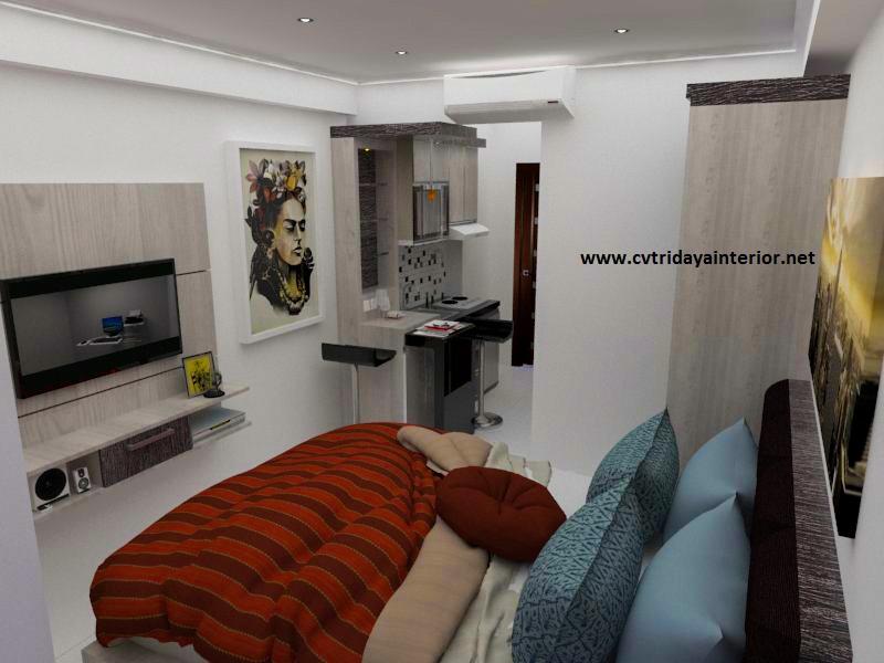 Cv Tridaya Interior Design Interior Apartemen Green Signature Studio Minimalis