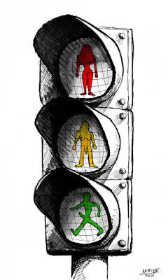 IaTriDis Γελοιογραφία : Επανάσταση στους φωτεινούς σηματοδότες