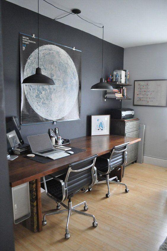 decoração de home office moderno móveis