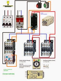 Electrical diagrams: Stardelta switchng