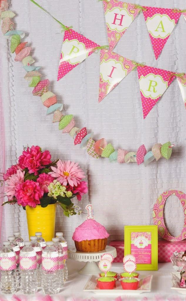 Cupcake First Birthday Part Theme