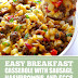 Easy Breakfast Casserole with Sausage, Hashbrowns and Eggs #breakfast #sausage