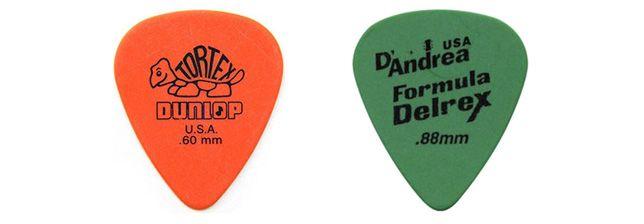 Tortex y Delrex Materiales Modernos para las Púas de Guitarra