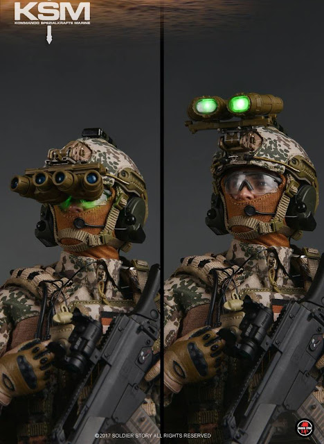 osw.zone Soldier Story 1 / 6. Scale Command Special Forces Marine VBSS (KSM-VBSS) with LIGHT-UP GPNVG-18!