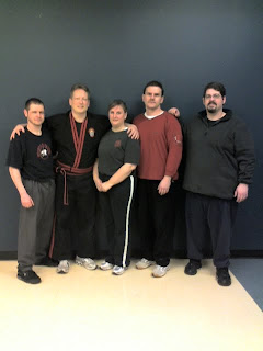 Photo after the first class taught in Oshawa.