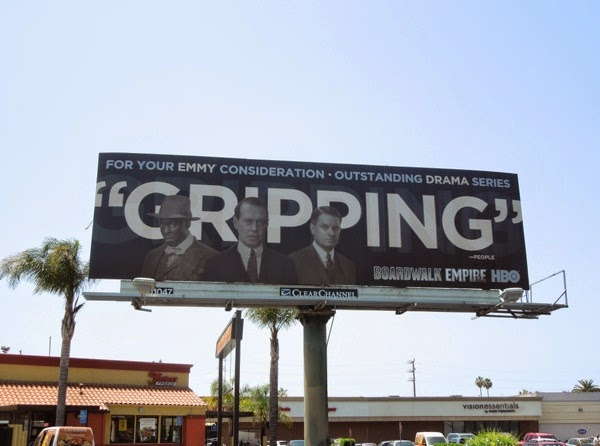 Boardwalk Empire Gripping 2014 Emmy billboard