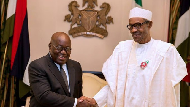 Presidents Buhari of Nigeria and President Akufo-Addo of Ghana