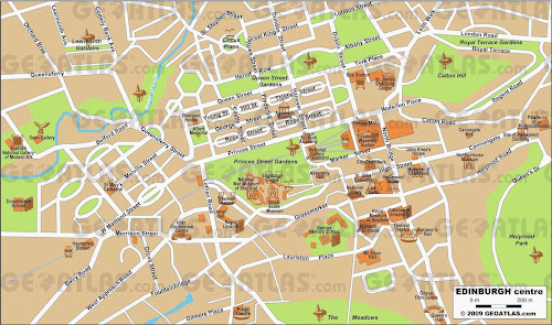 Edinburgh center map